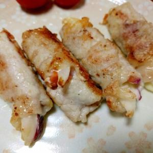 豚肉で野菜&チーズを巻き巻き♪爽やか梅味噌添え