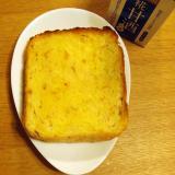 食パンの端で作る甘酒とマーガリンの染み込みトースト
