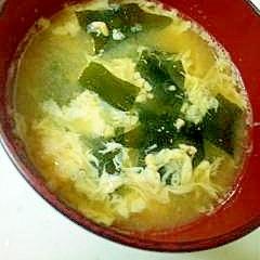納豆とたまごのお味噌汁♪