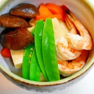伝統食材で健康メニュー!高野豆腐と海老の煮物
