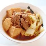 糖質オフ♪厚揚げと白菜と大豆のお肉の炊いたん