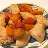 鶏むね肉とトマトの甘辛煮