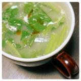 花椒が香る♪ほうれん草&卵 no 中華スープ