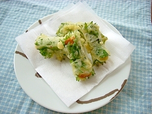 お弁当に☆ちくわと大葉の天ぷら