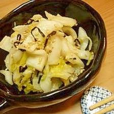 白菜漬の昆布和え