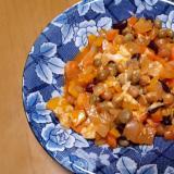 ミックスビーンズと野菜のケチャップチーズ煮