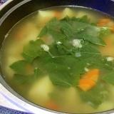 ナンプラーで☆ちょっと酸っぱい野菜スープ