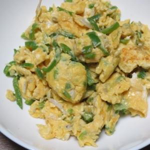 ピーマンシラス入り卵炒め