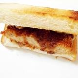 豚タンとコロッケの トーストサンド
