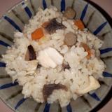 五目豆作りながらの~ついでに~炊き込みご飯♪