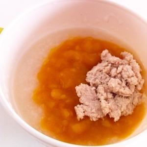 【離乳食中期】あんかけおじやdeワンプレート離乳食