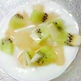桃とキウイのヨーグルト