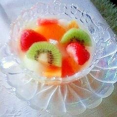♡゚・。♥フルーツと杏仁豆腐のデザート♡゚・。♥。