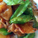 四角豆(うりずん豆)と豚肉炒め