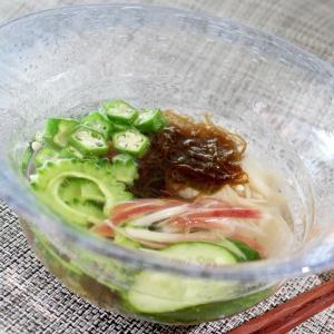 新生姜が甘酢っぱ美味しい♪もずくの冷製スープ