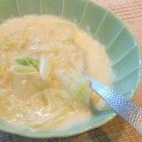 白菜とホタテのスープ仕立てクリーム煮