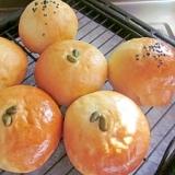 栗の渋皮煮入りあんぱん&レーズン入りさつま芋パン