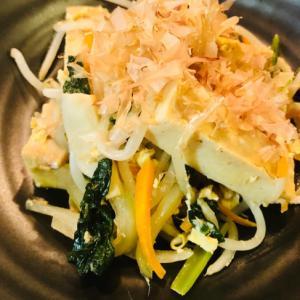 高野豆腐がジュワッと美味しい!もやしチャンプルー