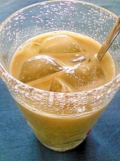 アイス☆青汁黒蜜きなこミルク♪