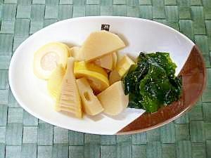 圧力鍋で簡単♪筍とわかめの煮物…若竹煮