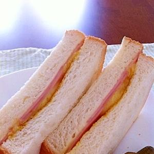 ハムチーズサンド★カレー風味★