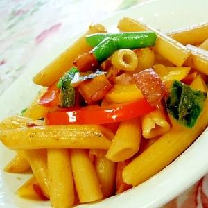 ❤ペンネde❤彩り野菜のガリバタにんにく醤油❤