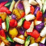 イカと夏野菜の南蛮漬け