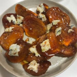 ゴルゴンゾーラチーズと柿のオードブル