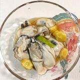 牡蠣、銀杏にスダチ