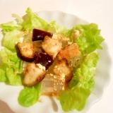 和風☆茄子の漬物でマヨ黒酢 寒天サラダ