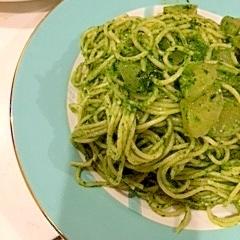 アンチエイジング♪小松菜のジェノベーゼ