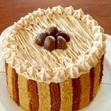ベジタリアンのモンブラン・デコレーションケーキ