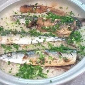 簡単★土鍋で焼き秋刀魚の炊込みご飯