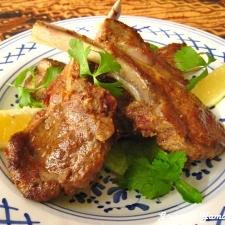 フライパンdeモロッコ風 ラム肉のスパイシーグリル