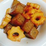生芋こんにゃくとちくわぶの簡単煮