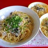 しらす・にんにく・海苔のスパゲッティー