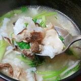 焼肉店の定番☆ 豚骨スープ「白湯クッパ」