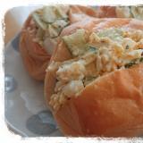 コストコのディナーロールで卵サンド