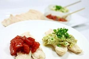 チキンにぴったり★トマトとアボカドで2種のソース