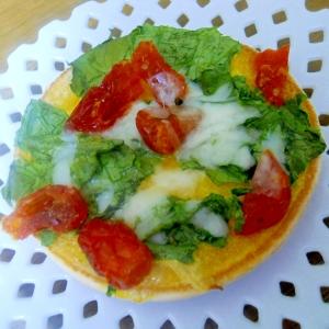 ドライトマト&レタス からしマヨで ピザ風トースト