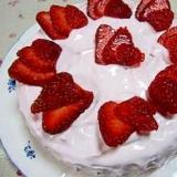 ♪ほんのりピンク☆母の日ケーキ♪
