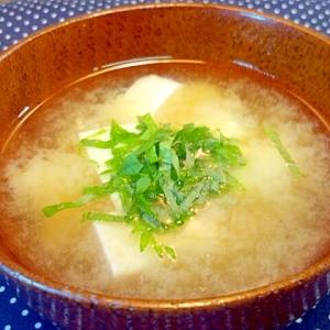 熱中症対策に有効な 豆腐のお味噌汁(大葉添え)