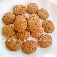 黒胡麻とオリーブオイルのクッキー