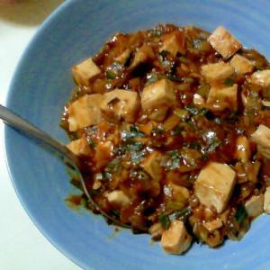 マイタケ麻婆豆腐