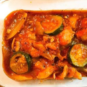 夏野菜たっぷり‼ チキンのトマト煮