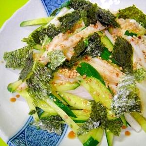 長芋ときゅうり海苔のサラダ