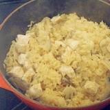 ル・クルーゼで!鶏肉とれんこんの炊き込みご飯