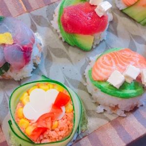 ひな祭り・お祝い事に*マフィン型でミニ寿司ケーキ