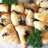 タジキスタンの牛肉の簡単サンブサ