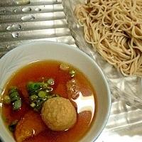 肉団子入り! 「肉団子&天ぷら入りお蕎麦」  ♪♪